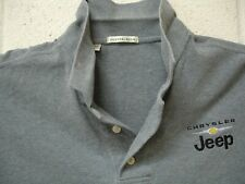 Chrysler Jeep Embroidered Logo Cutter and Buck Polo XXL Gray
