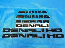 6PCS NEW 11-19 Gloss Black GMC Sierra Denali Duramax 2500HD 3500HD Badges Emblem