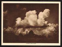 1910s Antique Vintage Meteorology Cumulus Cloud Photogravure Photo Print
