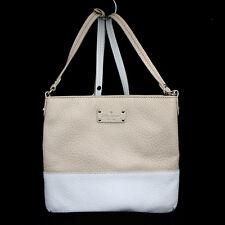 KATE SPADE Grove Court Cora Beige & White Leather Crossbody/Shoulder Bag