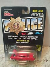 Racing Champions Police USA 1957 Chevy Bel Air Colma, CA Fire Dept Diecast New