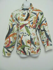 Chicos Womens Jacket Tapestry Embossed Snap Closure Pockets Floral SIze 3 XL 16