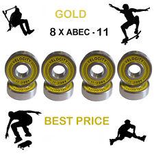 8 GOLD Abec 11 Wheel bearings Skateboard stunt scooter inline Roller skate 9