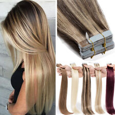 8A Brazilian Tape Glue in THICK Human Remy Hair Extensions Skin Weft 80PCS 120G
