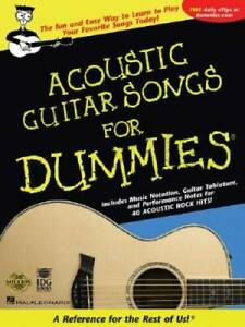 Acoustic Guitar Songs for Dummies - Paperback By Hal Leonard Corp. - GOOD