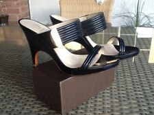 Nearly New VERSACE Medusa Shoes Patent Leather Upper,Gold Hardware Size 37/7