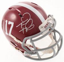 Tua Tagovailoa Signed Alabama Mini Helmet - Signed Beckett BAS