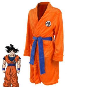 Mens Kids Son Goku Goten Kakarotto Cosplay Costume Robe Gown Bathrobe Pajamas