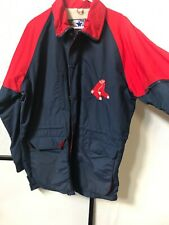 Vintage Starter Boston Red Sox Jacket Parka Medium Hooded 90s Rain