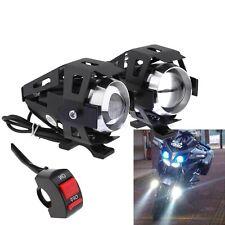 2X Moto Faretto CREE U5 125W 3000LM Anteriore Lampada Faro + Interruttore DB