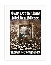 El Nacional Socialismo radio líder Weimar Alemania cartel lona impresiones artísticas
