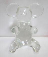 """Koala Bear Blown Glass Paperweight, Clear, 4.5"""" Tall"""