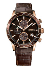 Hugo Boss HB 1513392 Rafale Chronograph Brown Leather Strap Men's Wrist Watch