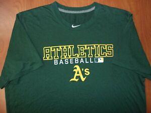Nike MLB Oakland A's Athletics Baseball Dri-Fit Performance On Field T-Shirt L