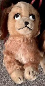 Schuco Lady and the Tramp Spaniel Dog Mohair Plush Bigo Bello Vintage Germany