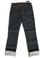 Nudie Herren Slim Fit Raw Dry Denim Indigo Jeans Hose -Slim Jim Dry Japan