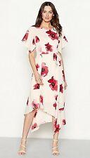 John Rocha RJR Pink Bold Poppy Flower Print High Low Crepe Dress UK 12 RRP £60