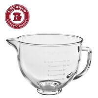 KitchenAid 5 Quart Tilt-Head Glass Bowl with Measurement Markings & Lid, KSM5GB
