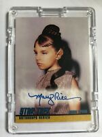 STAR TREK AUTOGRAPH Card Original Series A134 MARY RICE AS YOUNG T'PRING TOS