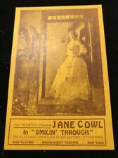 1919 Broadhurst Theater , NYC Postcard , Jane Cowl In Smilin Through Unmailed