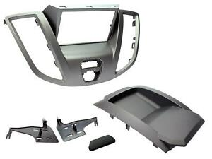 RADIO STEREO FACIA FASCIA CT23FD68 FOR FORD TRANSIT GREY DOUBLE DIN 2015 ONWARDS