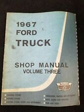 New Listing1967 Ford Truck Shop Manual, Volume 3 & Lube & Maintenance