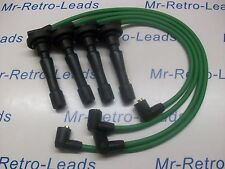 GREEN 8MM PERFORMANCE IGNITION LEADS WILL FIT HONDA CIVIC B16 B18 DOHC ENGINES
