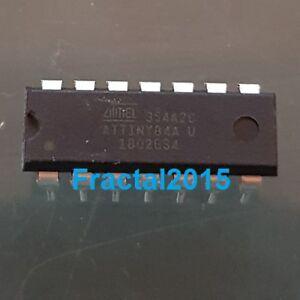 1Pcs ATTINY84A-PU ATTINY84A 8bit AVR 512 B RAM 8 ko Flash 20MHz DIP 14