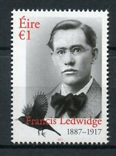 Ireland 2017 MNH Francis Ledwidge WW1 WWI War Poets 1v Set Writers Stamps