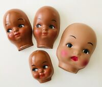 1990 Syndee/'s Crafts Tricia  Doll Head Brown  Eyes Parts Large New 31011