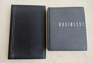 2 * Business Card Holder Binders 1 Esselte Grey 150+ cards - 1 Black 190+ cards