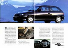 Vauxhall Astra GSi 1.8i 16v Mk3 1993 UK Market Foldout Sales Brochure