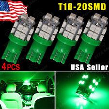 4 x T10 W5W 2825 192 194 168 Vivid Green 20 SMD LED Side Wedge Light Bulb 12V