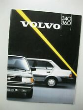 Volvo 340 360 prestige brochure Prospekt text Dutch 40 pages 1987