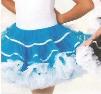 NWT Organdy PettiSkirt  Petticoat HipHop Dance CanCan Turquoise child/ladies szs