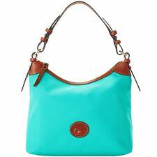 Dooney & Bourke Nylon Large Erica Shoulder Bag MINT Green With Leather Trim