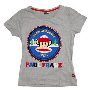 Licensed Womens Ladies Paul Frank Grey Loungable T-Shirt Top Size 18-20 Pj Top