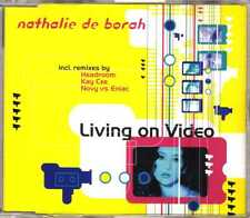 Nathalie De Borah - Living On Video - CDM - 1998 - Electro 6TR Trans-X cover