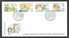 CYPRUS 2000 SYDNEY AUSTRALIA OLYMPICS NICE OFF/AL FDC. ARCHERY DIVING GYMNASTICS