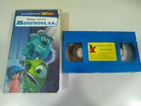 Monstruos SA Pixar Walt Disney - VHS Cinta Tape Español