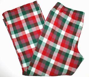 Gilligan O'Malley Pajama Sleepwear Flannel Pants Bottoms Christmas Colors XL-3X