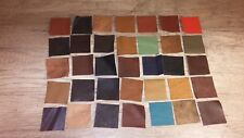 100% Genuine Leather Offcuts Remnants Various Colours Multicolored 15 Pieces