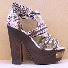 Kurt Geiger pink snakeskin effect retro 70s platform heels BNIB 5 RRP £150