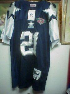 Mitchell & Ness Dallas Cowboys Deion Sanders #21 Throwback Jersey Sz 52 NWT NEW