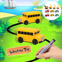 Scribing Induction Engineering Vehicle Car Toy w/ Pen Educational Creativ z