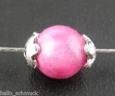 HS 500 Antiksilber Blume Perlen Beads Ende Kappen 4mm für 5-6mm Beads