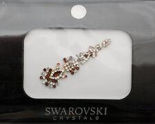 Bindi bijoux de peau mariage front strass cristal Swarovski ambre INHD  3617