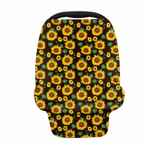 Sunflower Baby Breasfeeding Multi-Use Canopy Car Seat Stretchy Cover Infant Cart