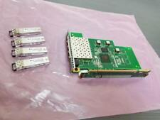 IBM 31P1641 4-Port 8G FC Network Card PMC PM8032 Fibre w/ Bracket 4x SFP  Riser