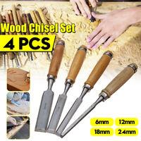 Pro 4Pcs Wood Chisel Set Carving Set Gouge Chisel Woodworking Tool le